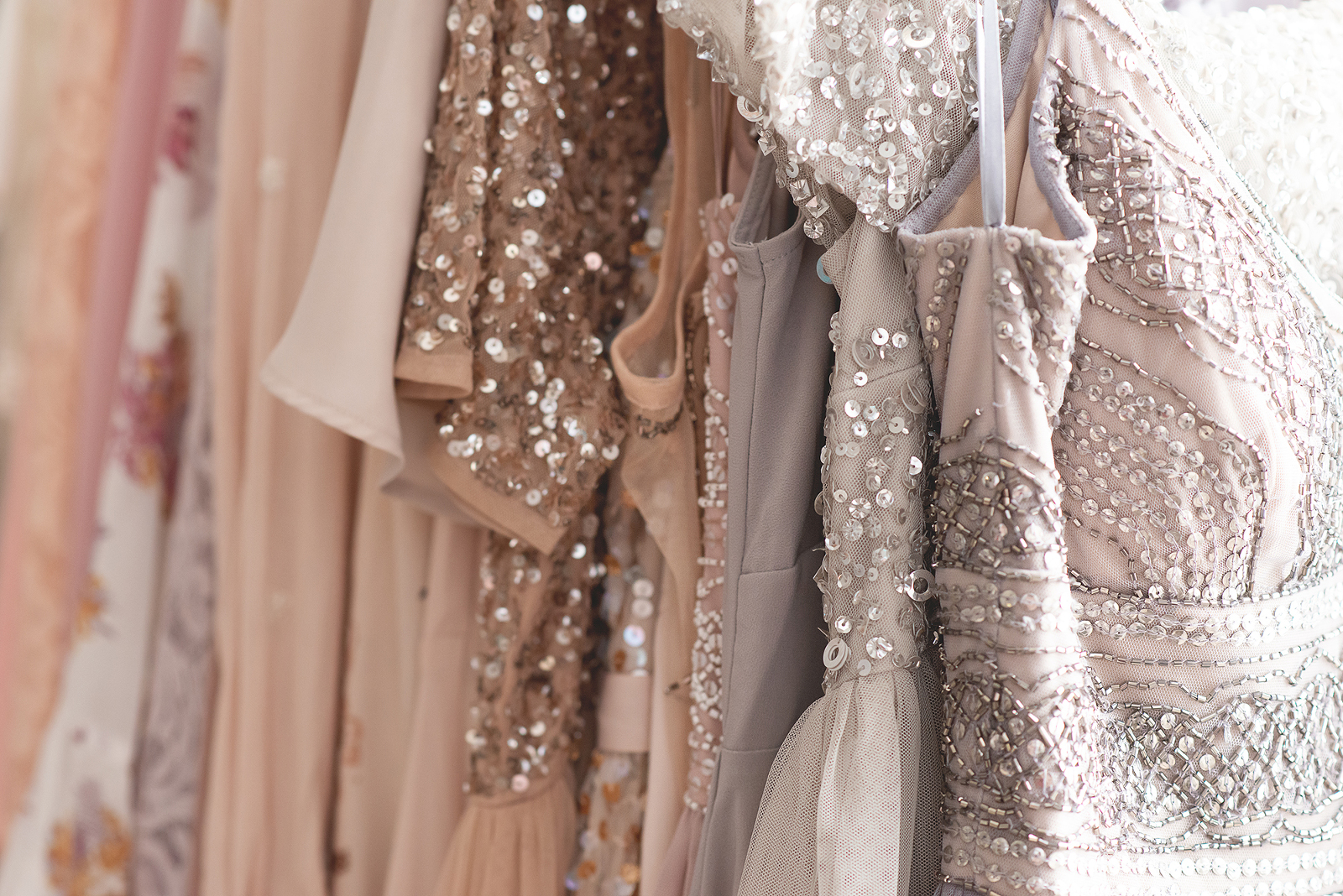 beads and sequins dress details client closet | Reaj Roberts Photography