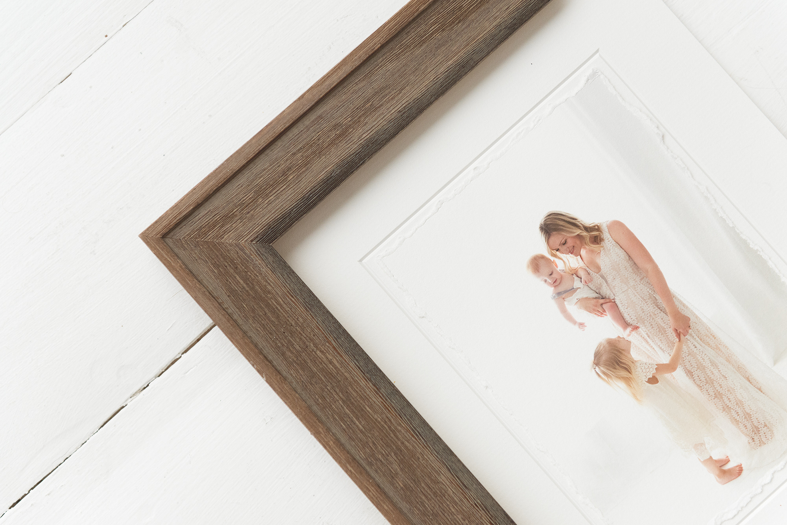 Deckled print with barnwood frame | Reaj Roberts Photography